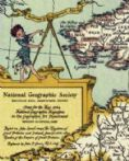 National Geographic Shakespeare Wall Map of Britain - Pub 1964